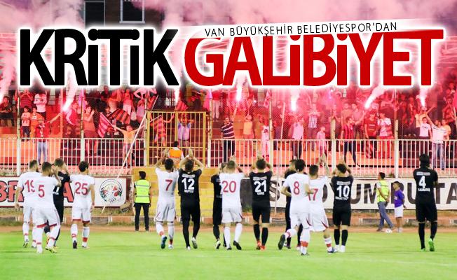 Van Büyükşehir Belediyespor deplasmanda mutlu döndü