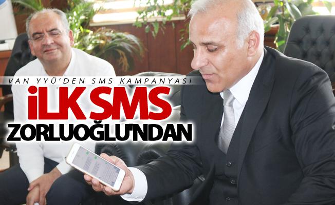 Van YYÜ'den SMS kampanyası