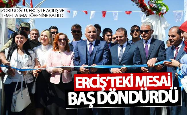 Zorluoğlu Erciş'te açılış ve temel atma törenine katıldı