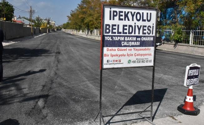 İpekyolu Belediyesinden yeni yol ve asfalt çalışması