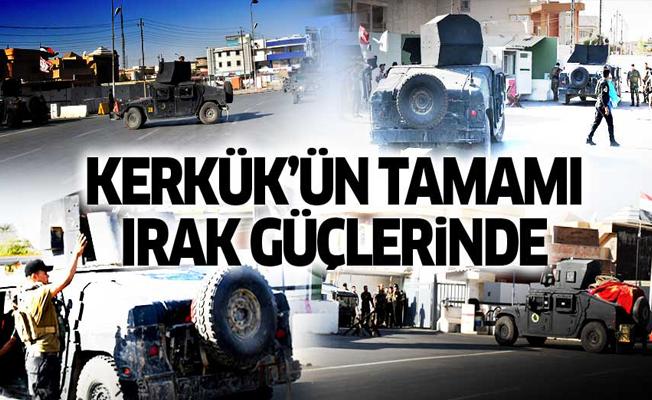 Irak güçleri: Kerkük tamamen kontrol altında