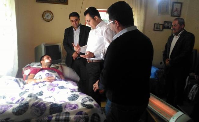 Kaymakam Özcan, taziye ve hasta ziyaretleri gerçekleştirdi