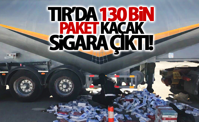 Tır'da 130 bin paket kaçak sigara ele geçirildi