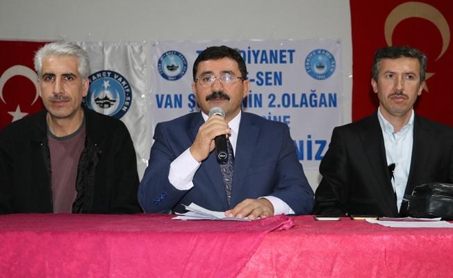 Türk Diyanet Vakıf-Sen Van Şubesinin 2. Olağan Genel Kongresi yapıldı
