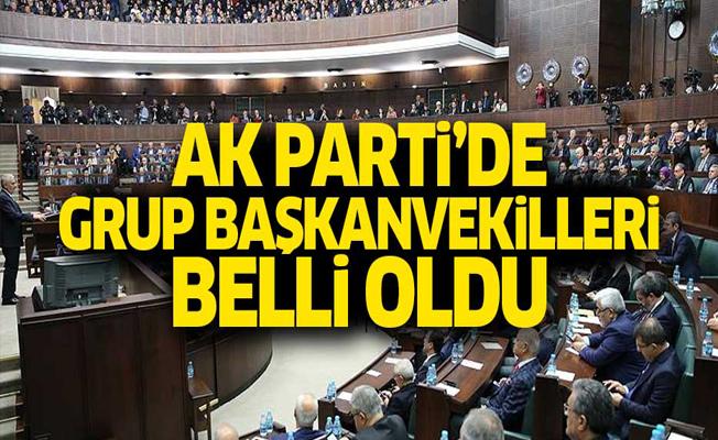 AK Parti'de grup başkanvekilleri belli oldu