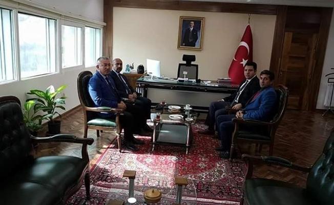 Meteoroloji 14. Bölge Müdürü Elkatmış'tan Kaymakam Özcan'a ziyaret