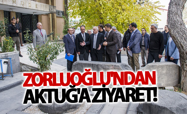 Vali Zorluoğlu'ndan Müdür Aktuğ'a ziyaret
