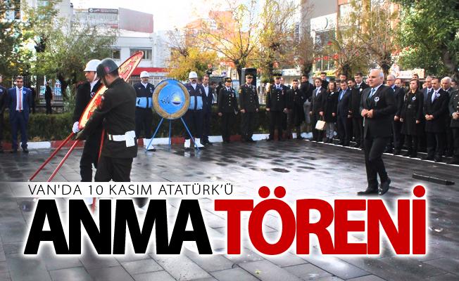 Van'da 10 Kasım Atatürk'ü anma töreni düzenlendi