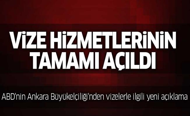 ABD'nin Ankara Büyükelçiliği'nden vizelerle ilgili yeni açıklama