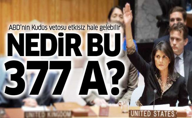 ABD'nin Kudüs vetosunun önündeki engel: 377 A nedir?