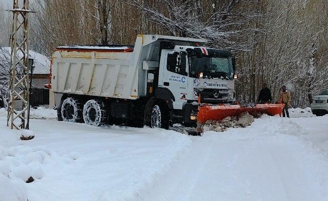 Edremit'te karla mücadele çalışması