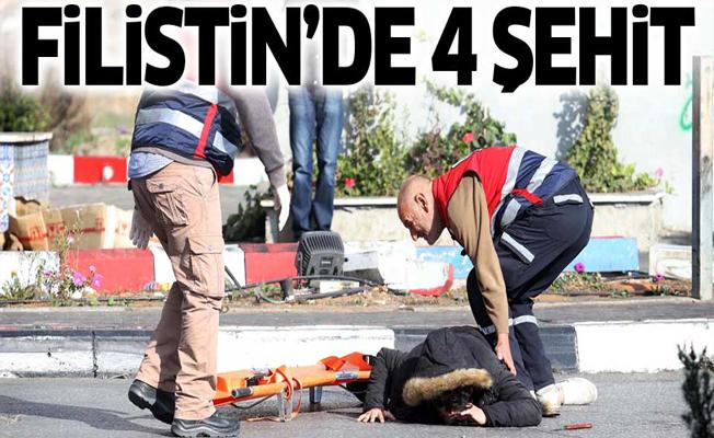 Filistin'de 4 kişi şehit, 367 yaralı