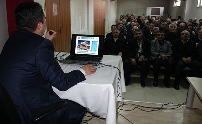 Kaymakam Belediye Başkan Vekili Dundar yaptığı çalışmaları muhtarlara anlattı