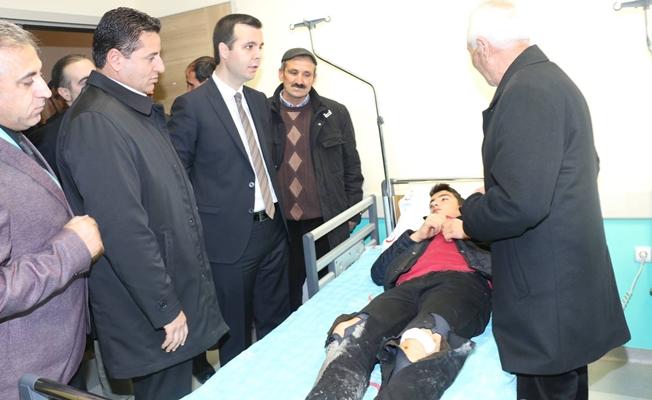 Kaymakam Vardar'dan yaralı öğrencilere ziyaret