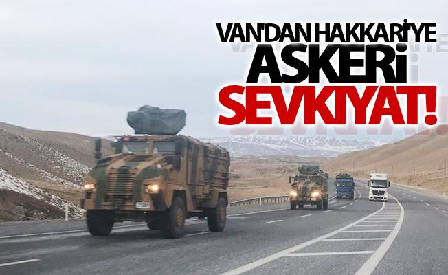 Van'dan Hakkari'ye askeri sevkıyat