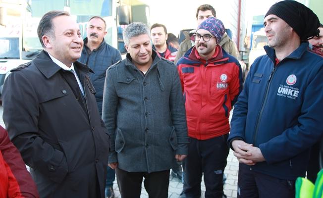 Akdoğan'dan UMKE saha çalışmalarına inceleme