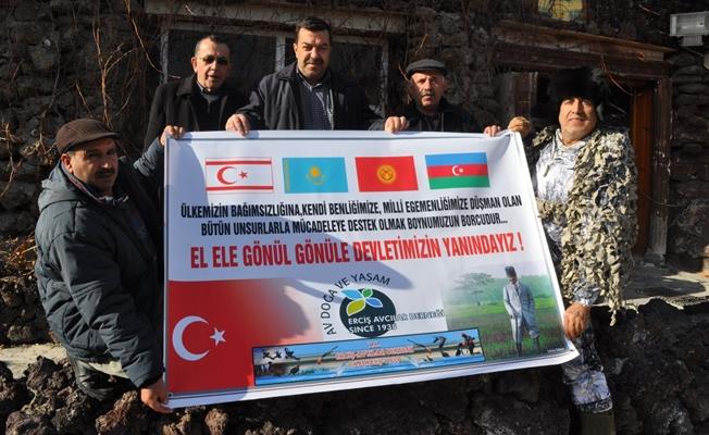 Erciş Avcılar Derneği'nden Zeytin Dalı Operasyonuna Destek