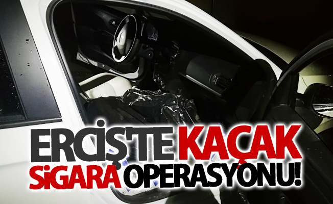 Erciş'te kaçak sigara operasyonu