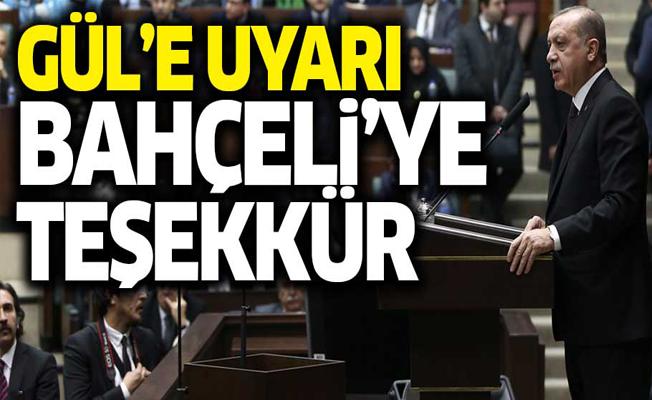 Erdoğan'dan Abdullah Gül ve Bahçeli mesajları!