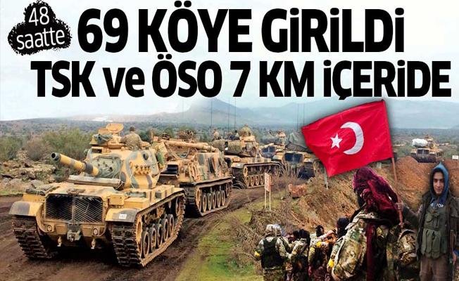 İlk 48 saatte 69 köye girildi! Türk askeri ve ÖSO 7 km içeride!