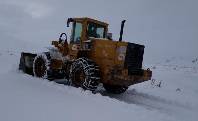 İpekyolu ilçesinde karla mücadele