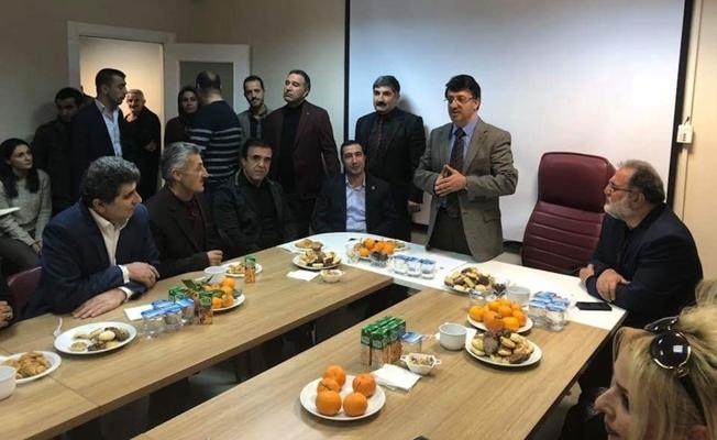 Kahraman'dan, AK Parti il başkanı Tükrmenoğlu'a ziyaret