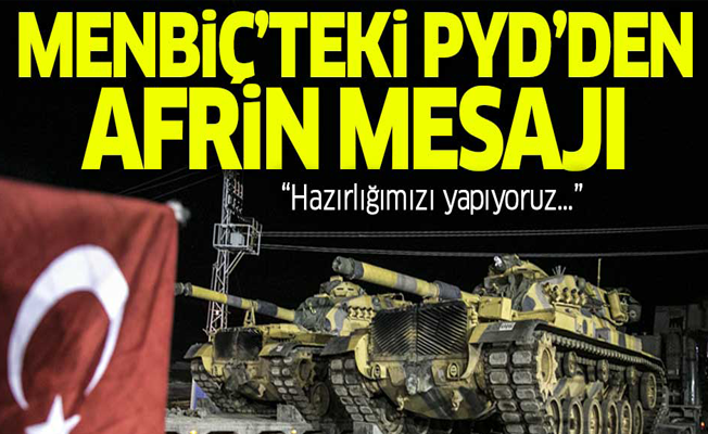 Menbiç'teki PYD'den flaş mesaj