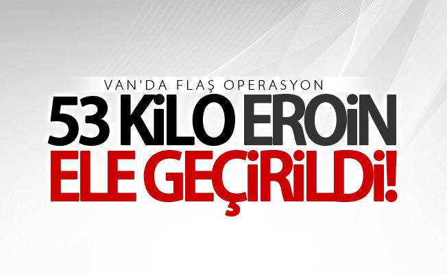 Van'da çuvallar içinde 53 kilo eroin ele geçirildi