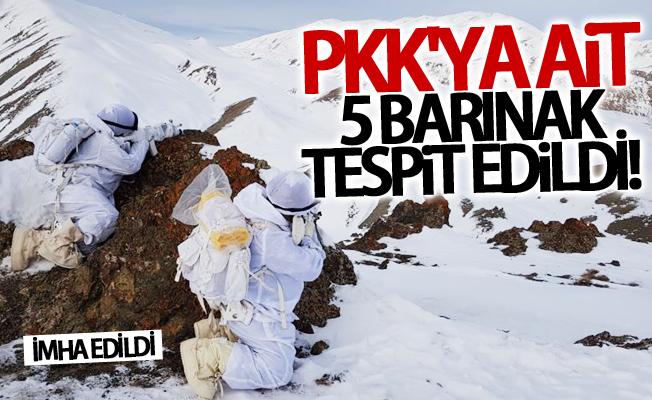 Van'da PKK'ya ait 5 barınak tespit edildi!