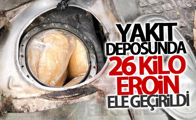 Van'da yakıt deposunda 26 kilo eroin ele geçirildi