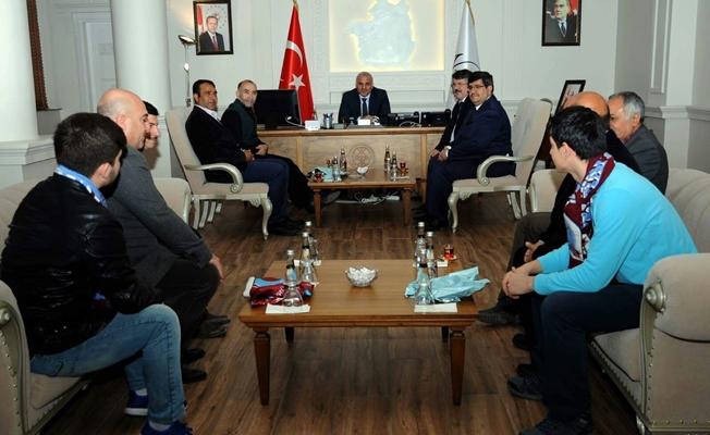 Van Trabzonsporlular Derneği'nden Vali Zorluoğlu'na ziyaret