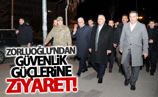 Van Valisi Zorluoğlu, yeni yıla nöbete giren güvenlik güçlerini ziyaret etti