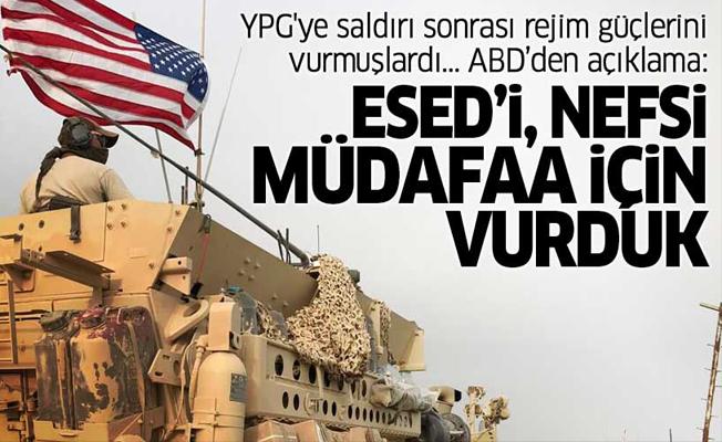 ABD YPG'ye saldırı sonrası Esed güçlerini vurmuştu!