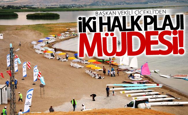 Başkan Vekili Çiçekli'den iki halk plajı müjdesi
