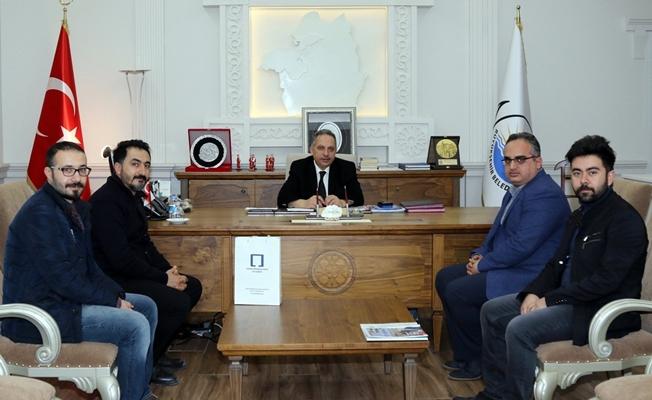 Mimarlar Odası Mustafa Yalçın'ı makamında ziyaret etti