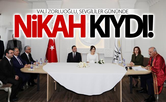 Vali Zorluoğlu, sevgililer gününde nikah kıydı