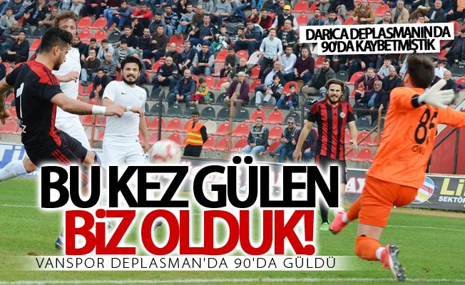 Van Büyükşehir Belediyespor deplasman'da 90'da güldü