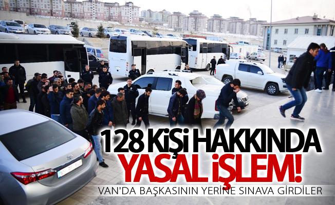 Van'da başkasının yerine sınava giren 128 kişi hakkında işlem