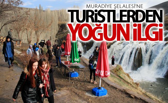 Muradiye Şelalesi'ne turistlerden yoğun ilgi