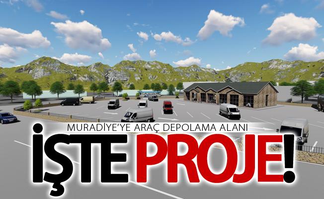 Muradiye'ye araç depolama alanına kavuşuyor