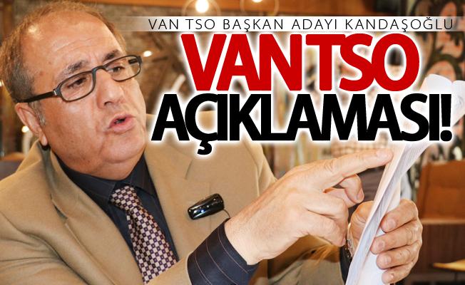 Van TSO Başkan Adayı Kandaşoğlu, basınla bir araya geldi