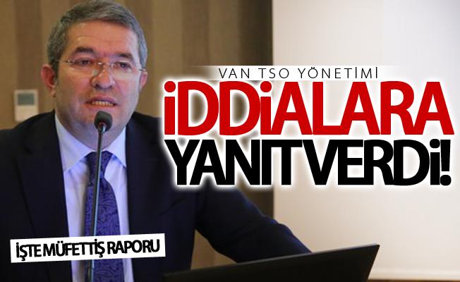 Van TSO yönetimi iddialara yanıt verdi