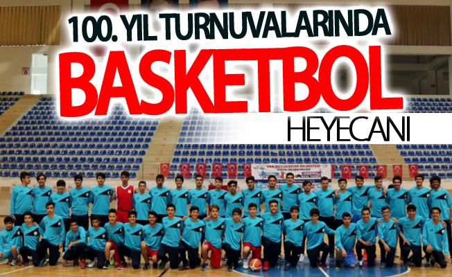 100. yıl turnuvalarında basketbol heyecanı