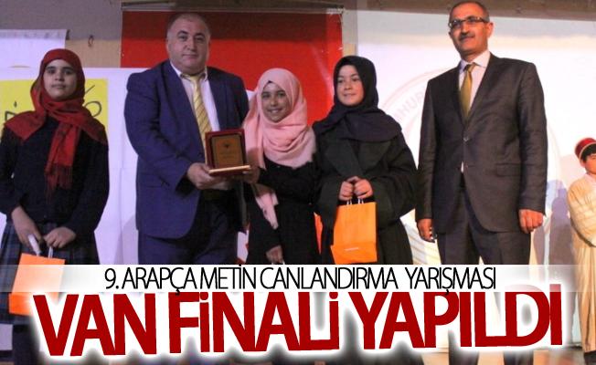 9. Arapça Metin Canlandırma yarışması Van finali yapıldı