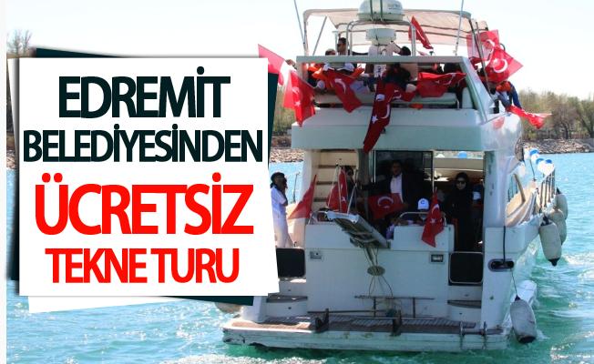 Edremit Belediyesinden ücretsiz tekne turu