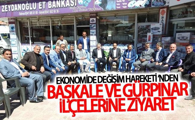 Ekonomide Değişim Hareketi'nden Başkale ve Gürpınar ilçelerine ziyaret