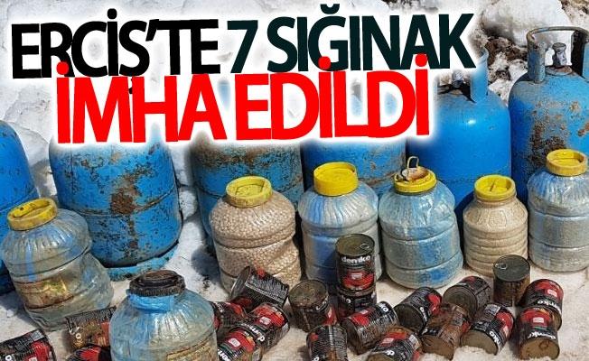 Erciş'te 7 sığınak imha edildi