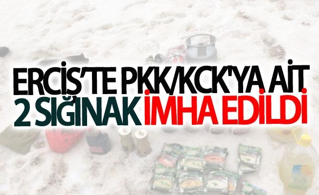 Erciş'te PKK/KCK'ya ait 2 sığınak imha edildi
