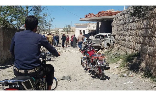 İdlib'in güneybatısına hava saldırısı