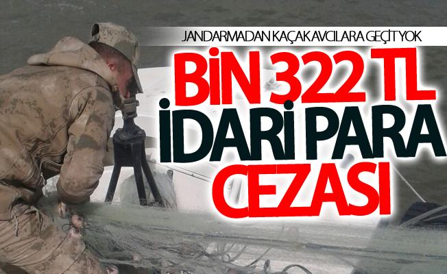 Kaçak avlanan bir kişiye bin 322 TL idari para cezası